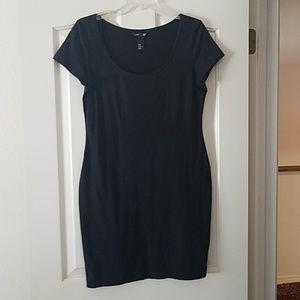 H&M Basic Black T Shirt Dress
